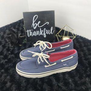 Keds Blue Boat Shoes